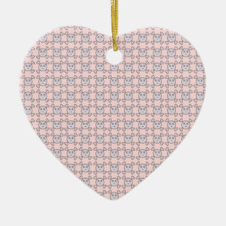 new color rosa cráneo ceramic heart decoration