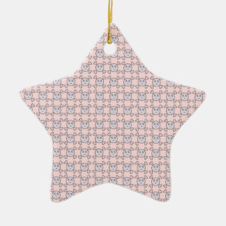 new color rosa cráneo ceramic star decoration