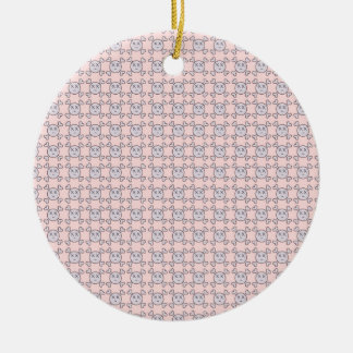 new color rosa cráneo christmas ornament