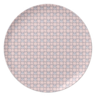 new color rosa cráneo party plates
