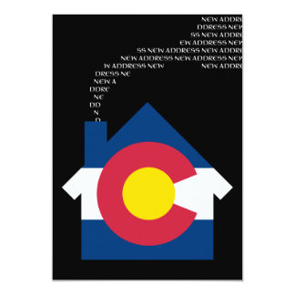 new colorado address 13 cm x 18 cm invitation card