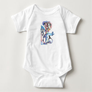 new colorful world baby bodysuit