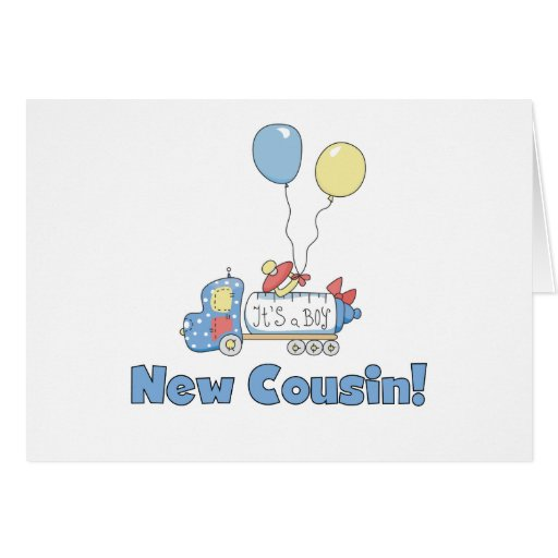 New Cousin It's a Boy Greeting Card