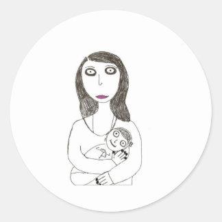 New Creepy Mom Classic Round Sticker