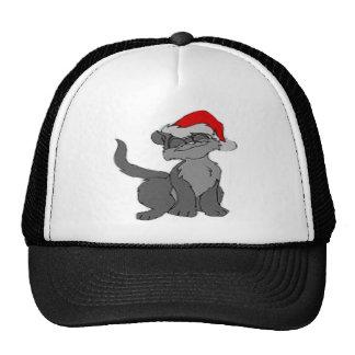 New Cristmas Cat T shirt Mesh Hats
