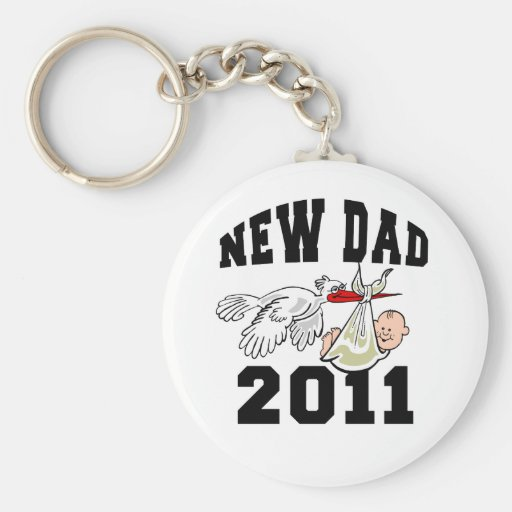 New Dad 2011 Keychains