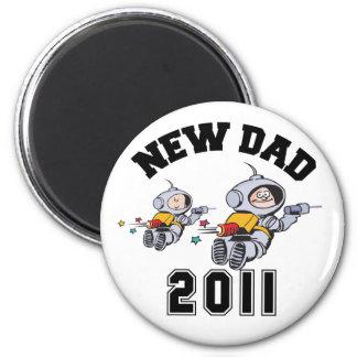 New Dad 2011 Fridge Magnet
