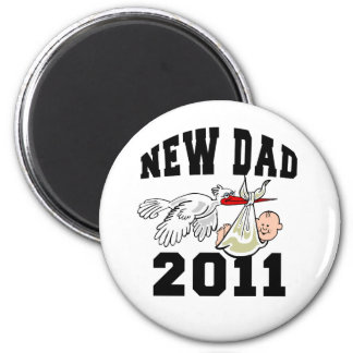 New Dad 2011 Magnets