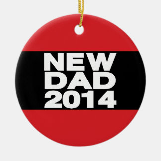 New Dad 2014 Lg Red Round Ceramic Decoration
