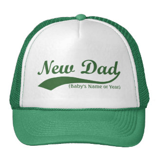 New Dad Hat, Personalized Baby's Name or Year