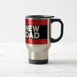 New Dad Lg Red Travel Mug