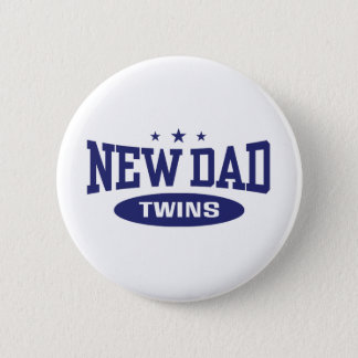 New Dad Twins 6 Cm Round Badge