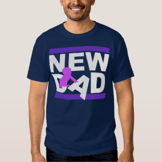 New Dad With Pink Girl Tee Shirts