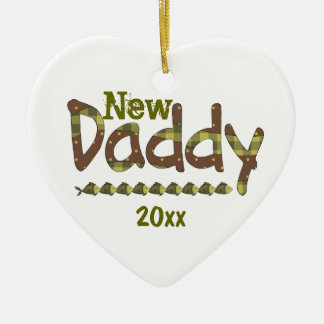 New Daddy 20XX Heart Ornament
