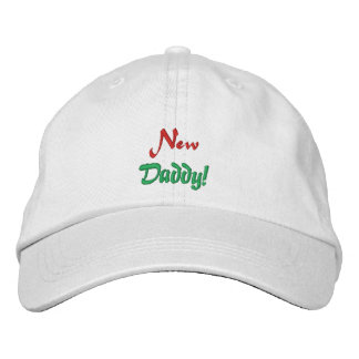New, Daddy!-Embroidered Hay Embroidered Hat