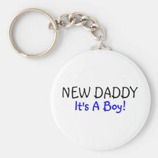 New Daddy Its A Boy Blue Keychains