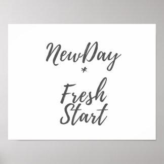 New Day, Fresh Start Print