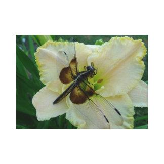 New Day Gardens Canvas Print- Dragonfly & Daylily
