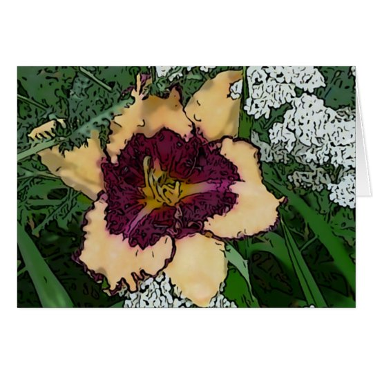 New Day Gardens Notecard Daylily 'Sabine Baur' W