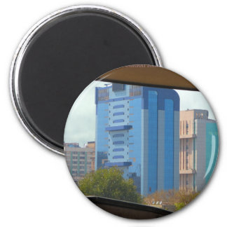 New Delhi India Landscape views from Metro Station 6 Cm Round Magnet