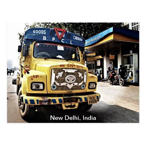 New Delhi Truck Postcards