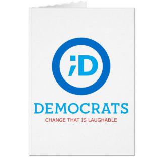NEW Democrat Logo Wink Greeting Card