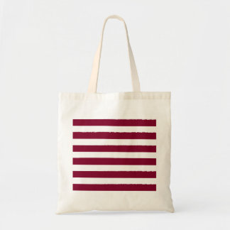 New designers tote bag with stripes / brown