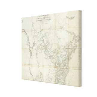 New Discoveries in North America Stretched Canvas Print