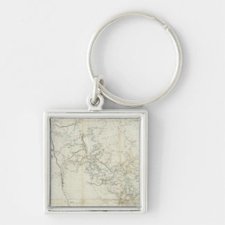 New Discoveries in North America Silver-Colored Square Key Ring