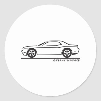 New Dodge Charger Round Stickers