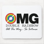 new double rainbow t shirt omg what does it mean? mouse pads