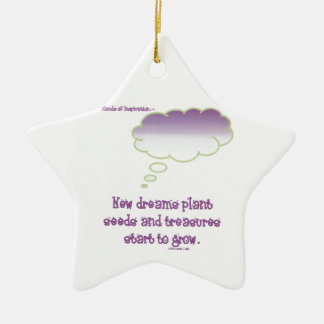 New dreams plant seeds ceramic star decoration