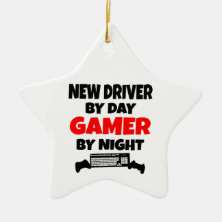 New Driver by Day Gamer by Night Christmas Ornament