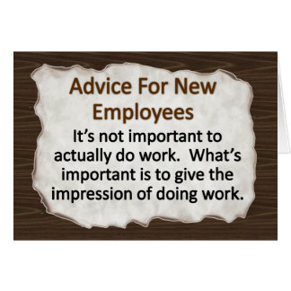 New Employee Stationery Note Card
