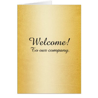 New Employee Welcome Faux Gold Greeting Card