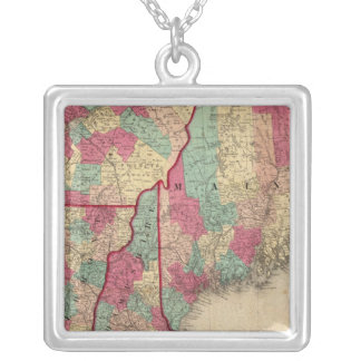 New England and Lower Canada Silver Plated Necklace