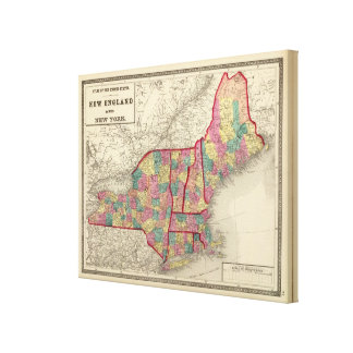 New England and New York 2 Canvas Print