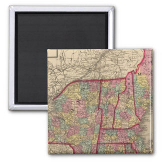 New England and New York Square Magnet