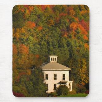 New England Autumn House and Cupola Mousepad