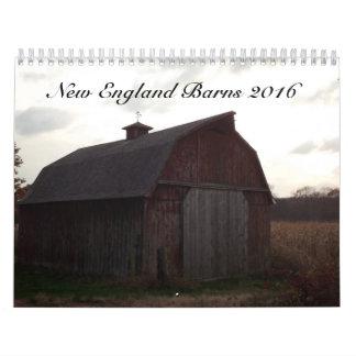 New England Barns 2016 Calendar