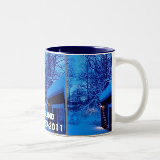 NEW ENGLAND BLIZZARDS OF 2011 Two-Tone COFFEE MUG