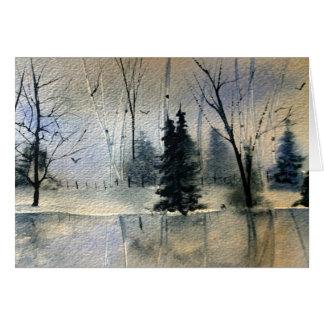 New England Calls winter greeting card