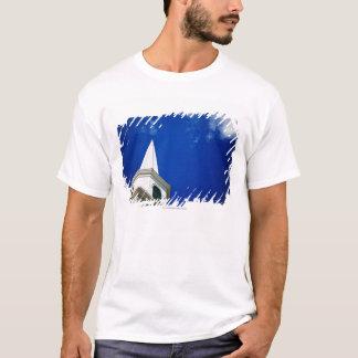 New England Church Steeple with a Royal Blue Sky T-Shirt