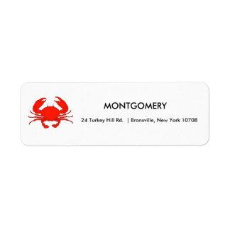 New England Crab Return Labels