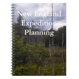 New England Expedition Planning Field Journal Spiral Notebooks