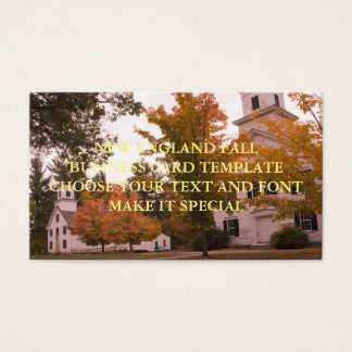 NEW ENGLAND FALL BUSINESS CARD TEMPLATE