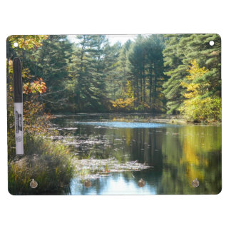 New England Fall Pond Dry-Erase Boards