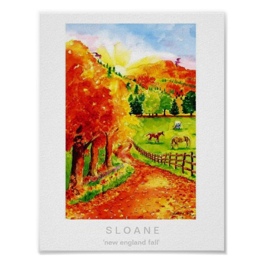 New England Fall Poster