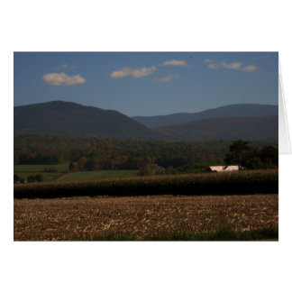 New England Farm in the Fall Card