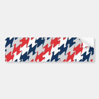New England Football Team Colors Red White & Blue Bumper Sticker